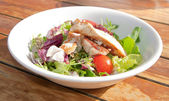 Salad with chicken — Stock Photo