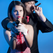 Bonnie and clyde — Stock Photo
