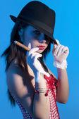 Killer girl — Stock Photo