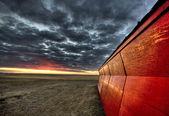 Sunset Saskatchewan Canada — Stock Photo