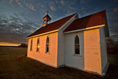 Sunset Saskatchewan Church — Stock Photo
