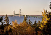 Mackinaw City Bridge Michigan — Stock Photo