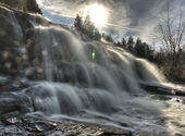 Northern Michigan UP Waterfalls Bond Falls — Stock Photo
