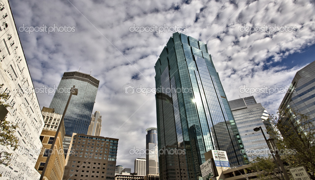Minneapolis City Photo downtown skyline Minnesota Midwest — Stock Photo #4684910