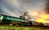 Saskatchewan Grain Elevator — Stock Photo