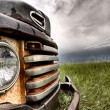 Stock Photo: Old Vintage Truck oon the Prairie