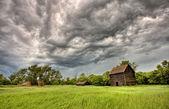 Abbandonato la fattoria edifici saskatchewan — Foto Stock