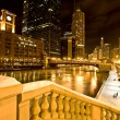 Chicago Downtown City Night Photography — Stock Photo #4765994