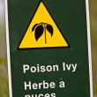 Poison Ivy Sign — Stock Photo