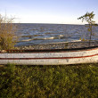 Stok fotoğraf: Old Weathered fishing boat on Hecla Island Manitoba
