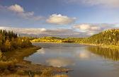Northern Manitoba Lake near Thompson in Autumn — Stock Photo