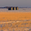 Stock Photo: Granary and Stubble Field Saskatchewan