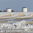 Fuel storage facilities in Winter — Stock Photo