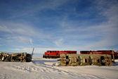 Train Wreck in Saskatchewan — Stock Photo