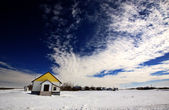 Old Abandoned Homestead in Winter Saskatchewan — Stock Photo