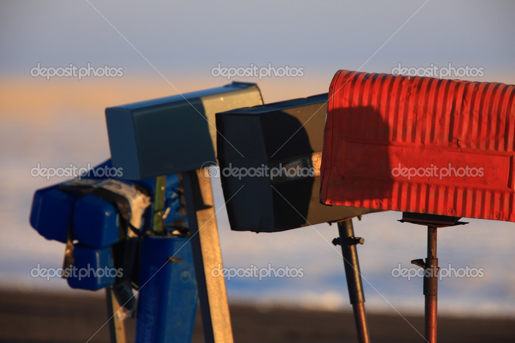 Mail Boxes in WInter Canada — Stock Photo #4844424