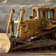 Stock Photo: Idle bulldozer in Saskatchewan