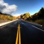 Wet Cassiar Highway through Northern British Columbia — Stock Photo