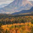 Mountain scenery in British Columbia autumn - Stock Photo
