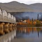 Teslin Lake bridge on Alaska Highway — Stock Photo