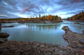 River in Northern British Columbia — Stock Photo