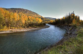 Tanzilla River in Northern British Columbia — Stock Photo
