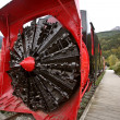 Stock Photo: Old snow blower train at Skagway Alaska