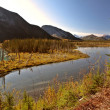 Liard River in British Columbia - Stock Photo