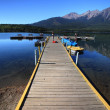 Pyramid Lake in Jasper National Park — Stock Photo