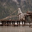 Log lifting structure at Stewart British Columbia — Stock Photo