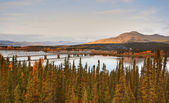 Teslin Lake bridge on Alaska Highway — Stock Photo
