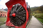 Old snow blower train at Skagway Alaska — Stock Photo