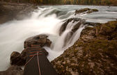 Buckley River Falls at Moricetown in British Columbia — Stock Photo