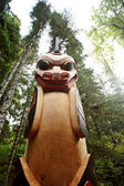 Totem pole at Kitsumkalum Provincial Park — Stock Photo