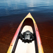 Kayak at waters edge on Lake Winnipeg — Stock Photo