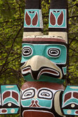 Totem pole in rural Manitoba — Stock Photo