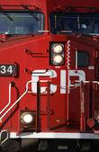 Close up of train engine — Stock Photo