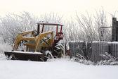 Maszyny rolnicze w zimie — Zdjęcie stockowe