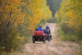 Riders on All Terraine Vehicles in Northern Saskatchewan — Stock Photo