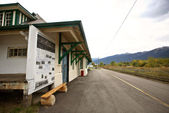 McBride train station in beautiful British Columbia — Stock Photo