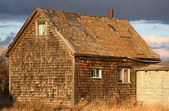 Old abandoned Saskatchewan farm house — Stok fotoğraf
