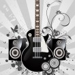 Abstract Electric Guitar — Stock Vector