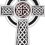 Celtic cross symbol - tattoo or artwork — Stock Vector