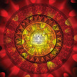 Maya calendar on a end of days background - Imagen vectorial