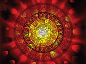 Maya calendar on a end of days background — Cтоковый вектор