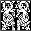 Royalty-Free Stock Immagine Vettoriale: A vector illustration of a dual Celtic bird