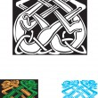 Stock Vector: Celtic symbol, great for tatoo or shirt print.