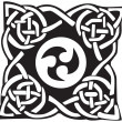 A vector illustration of a Celtic pattern and knot — Vektorgrafik