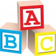 Royalty-Free Stock Vector Image: Alphabet Blocks