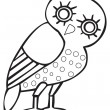 Greek owl sign, symbol - Stok Vektör